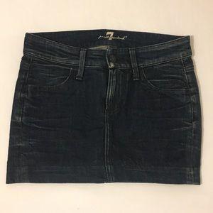 7 For All Mankind Mini Denim Skirt